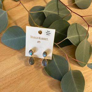 World Market Stone Dangle Earrings